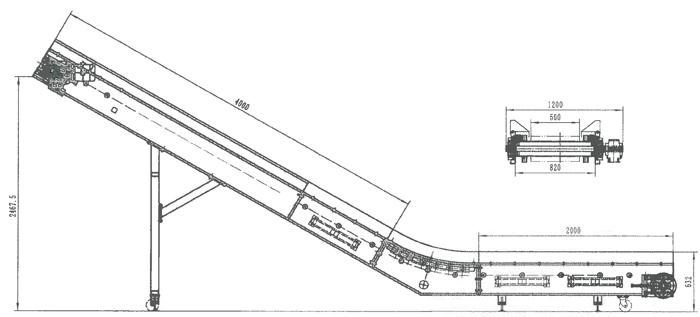conveyor rmc l8060 swan neck discharge